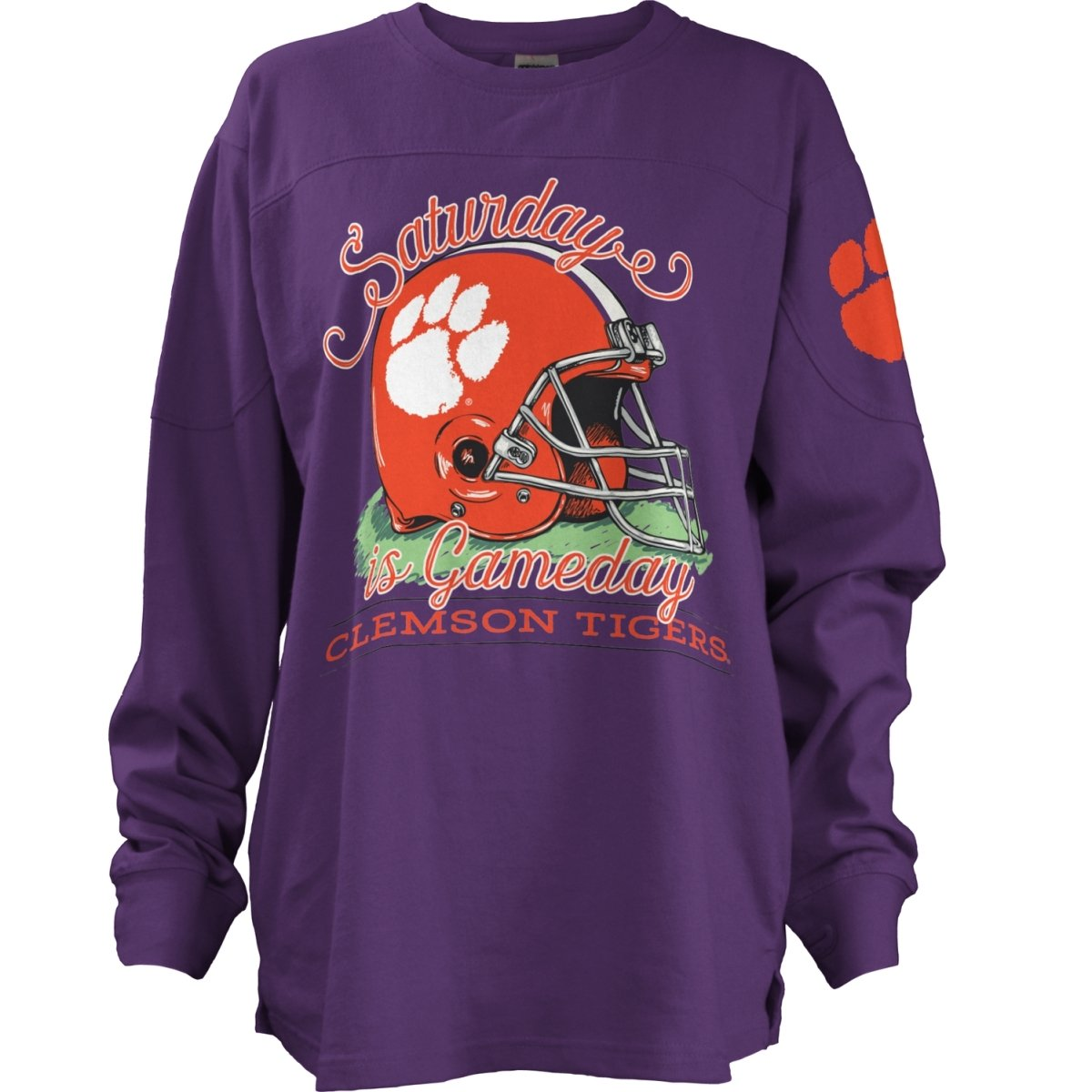 Pressbox Saturday is Gameday Long Sleeve T-Shirt - Mr. Knickerbocker