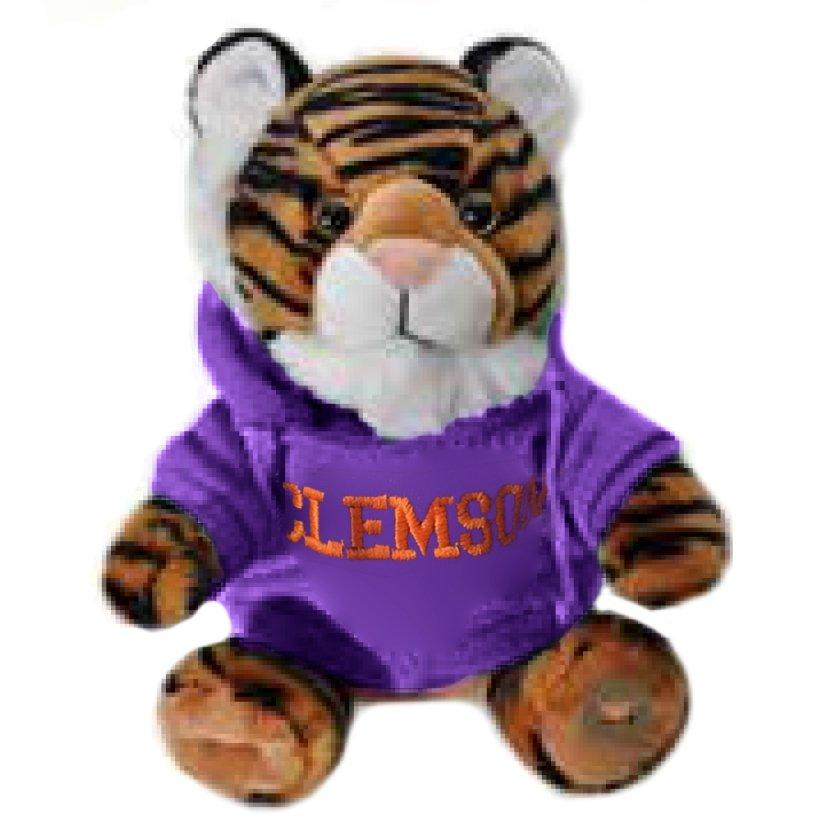Purple Hoodie Sitting Plush Tiger - 9'' - Mr. Knickerbocker
