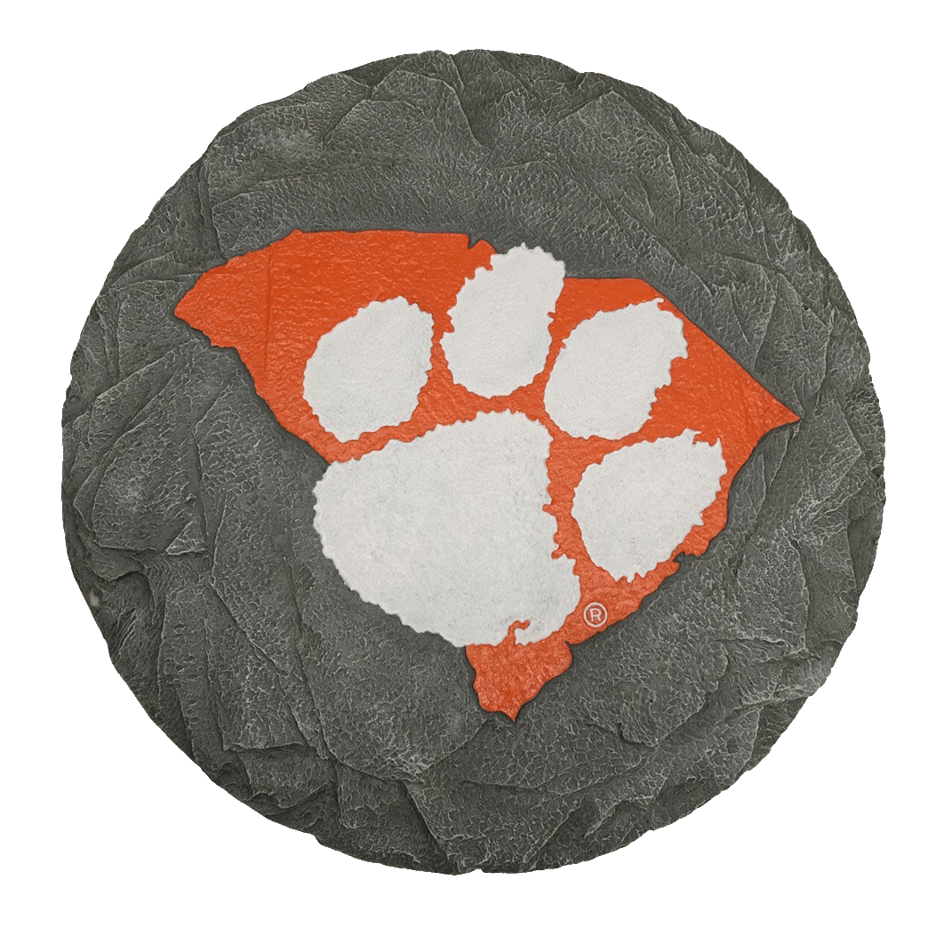 "Resin Stepping Stone Orange SC With White Paw - 13"" - Mr. Knickerbocker"