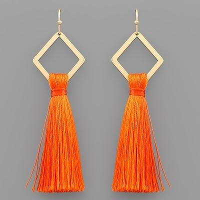 Rhombus & Tassel Earrings - Mr. Knickerbocker