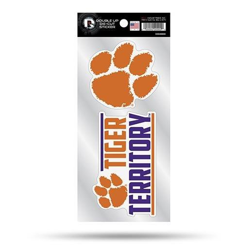 Rico Clemson Tigers Double-up Decal Pack - Mr. Knickerbocker