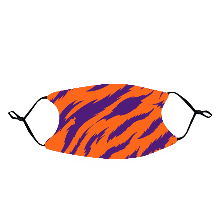 Rock 'Em Face Mask- Orange and Purple Tiger Stripe - Mr. Knickerbocker