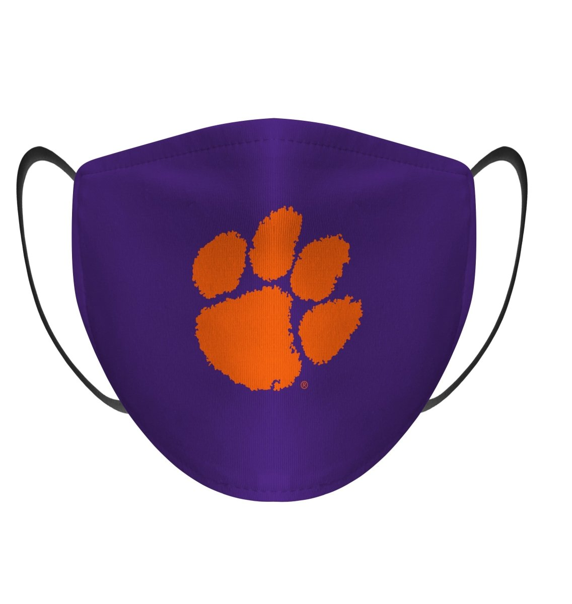 Rock 'Em Face Mask- Solid Purple with Orange Paw - Mr. Knickerbocker