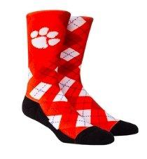 Rock 'em Socks Clemson Tigers Argyle - Crew Cut - Mr. Knickerbocker