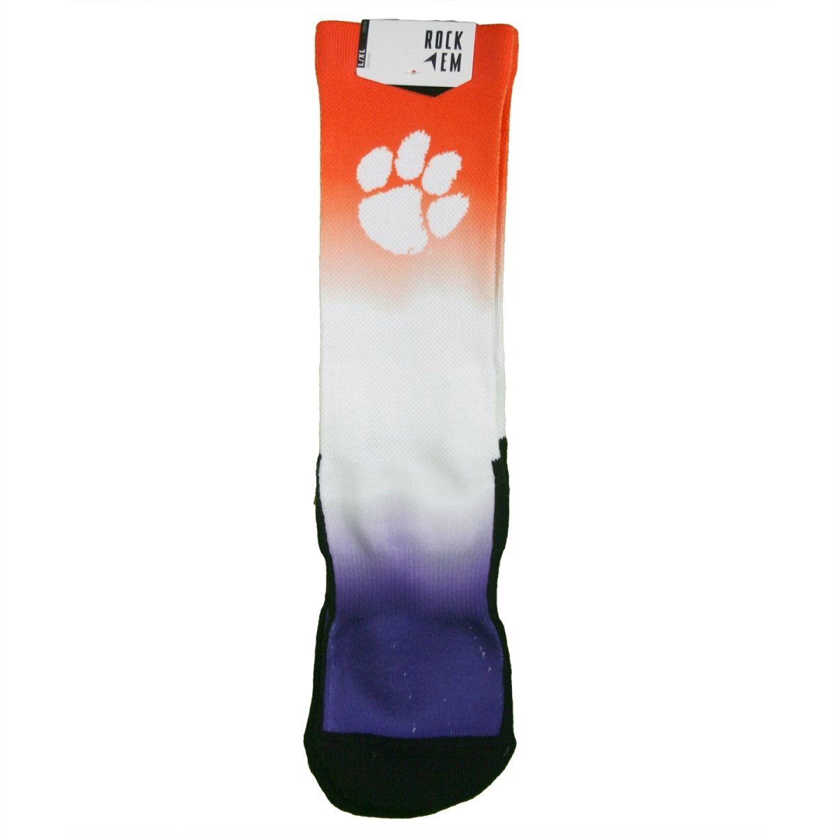 Rock 'em Socks Clemson Tigers Dip Dye - Crew Cut - Mr. Knickerbocker