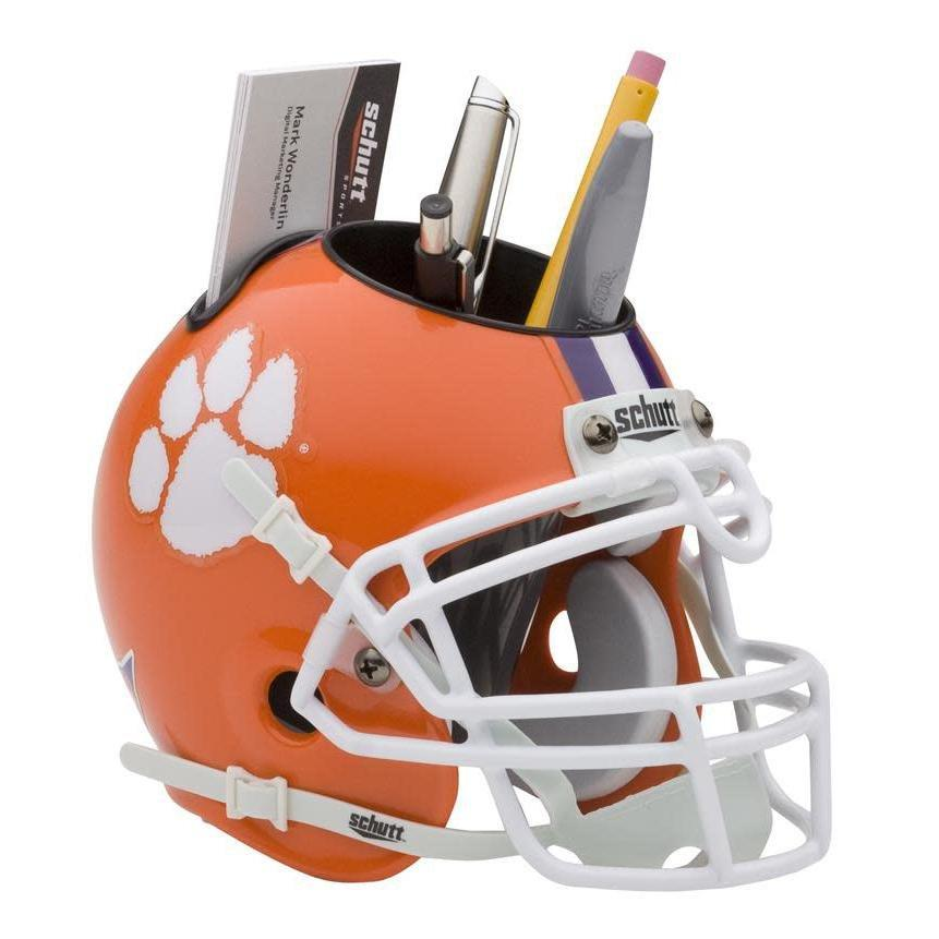 Schutt Clemson Football Helmet Desk Caddy - Mr. Knickerbocker