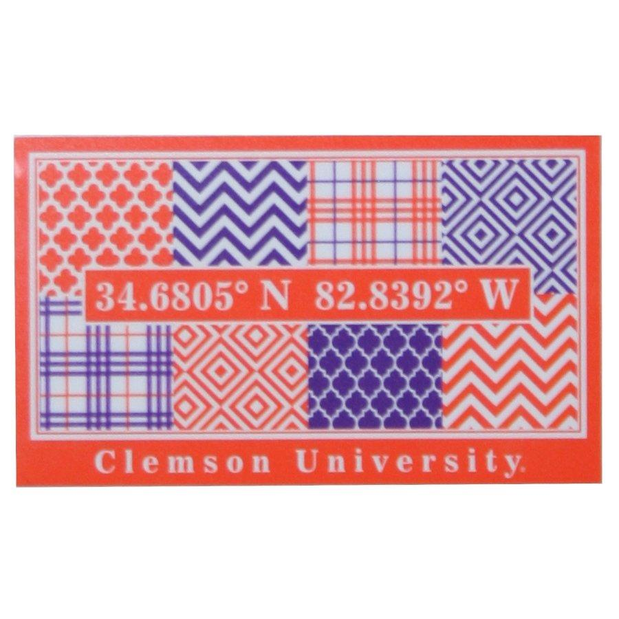 "SDS Design 6"" Clemson Patchwork Coordinates Vinyl Decal - Mr. Knickerbocker"