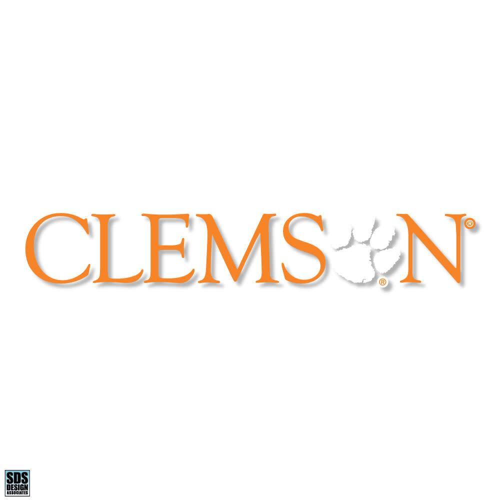 "SDS Design Clemson 10"" Decal With Paw Print - Mr. Knickerbocker"