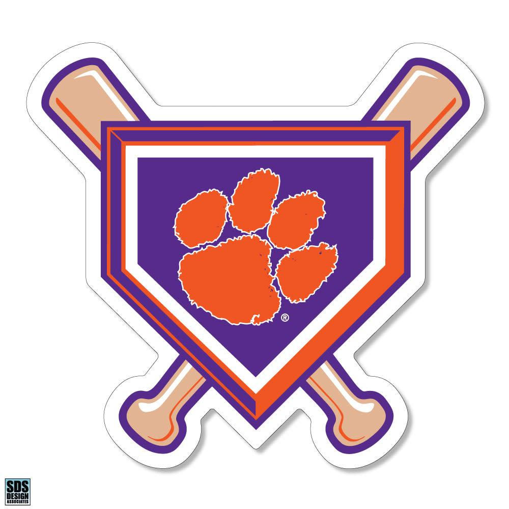 "SDS Design Clemson Baseball 6"" Crossed Bats Magnet - Mr. Knickerbocker"