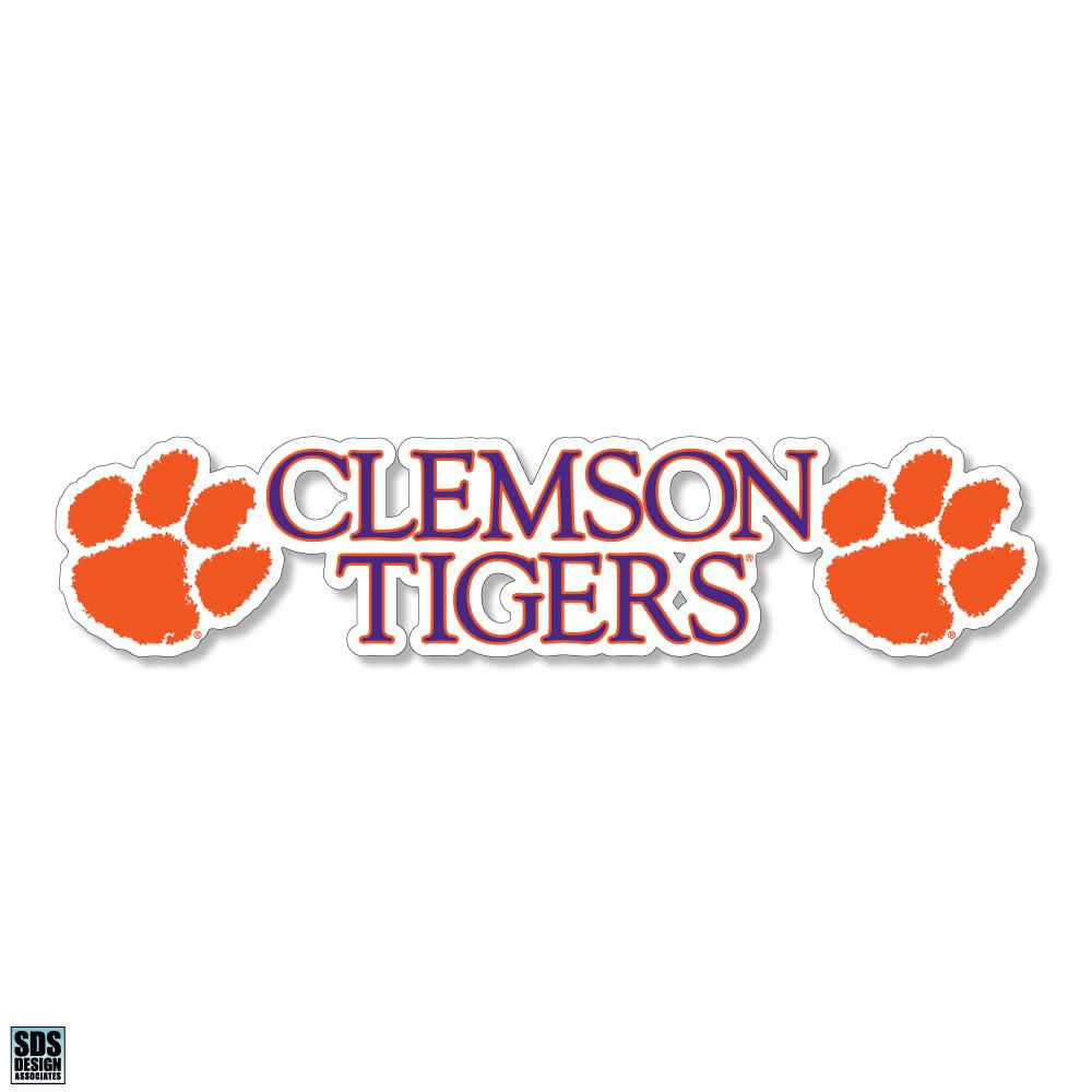 "SDS Design Clemson Classic Stacked 6"" Decal - Mr. Knickerbocker"