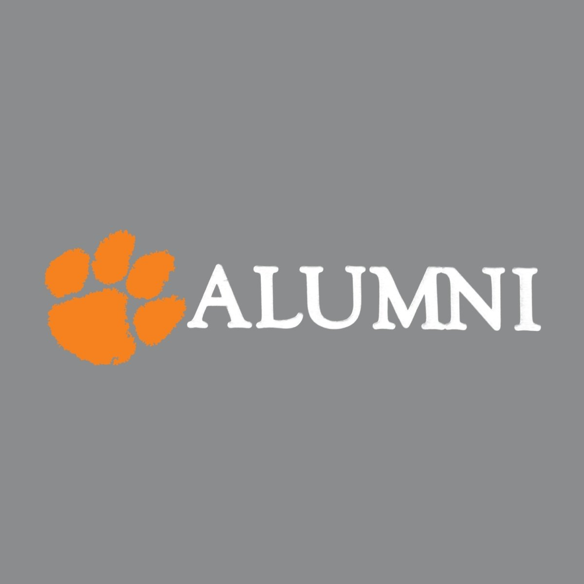 "SDS Design Clemson Paw and Text 6"" Decal - Mr. Knickerbocker"
