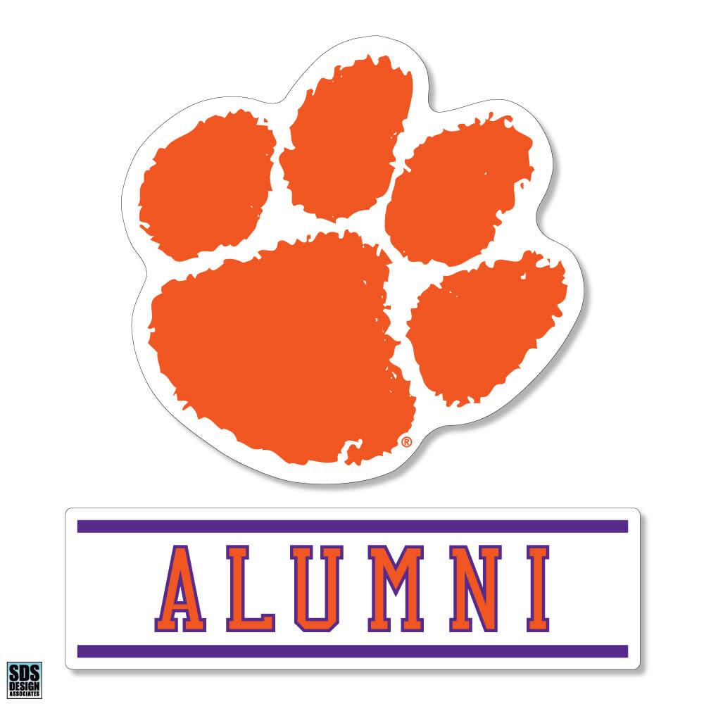 "SDS Design Clemson Paw Over 3"" Decal - Mr. Knickerbocker"