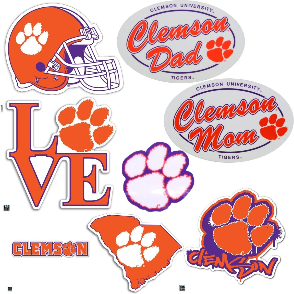 "SDS Design Clemson Tigers 2"" Dizzler Heavy Duty Decals - Mr. Knickerbocker"