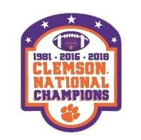 SDS Design Clemson Tigers 3x National Champions Block Decal - Mr. Knickerbocker