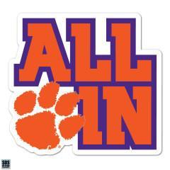 SDS Design Clemson Tigers All in Stack Decal - Mr. Knickerbocker