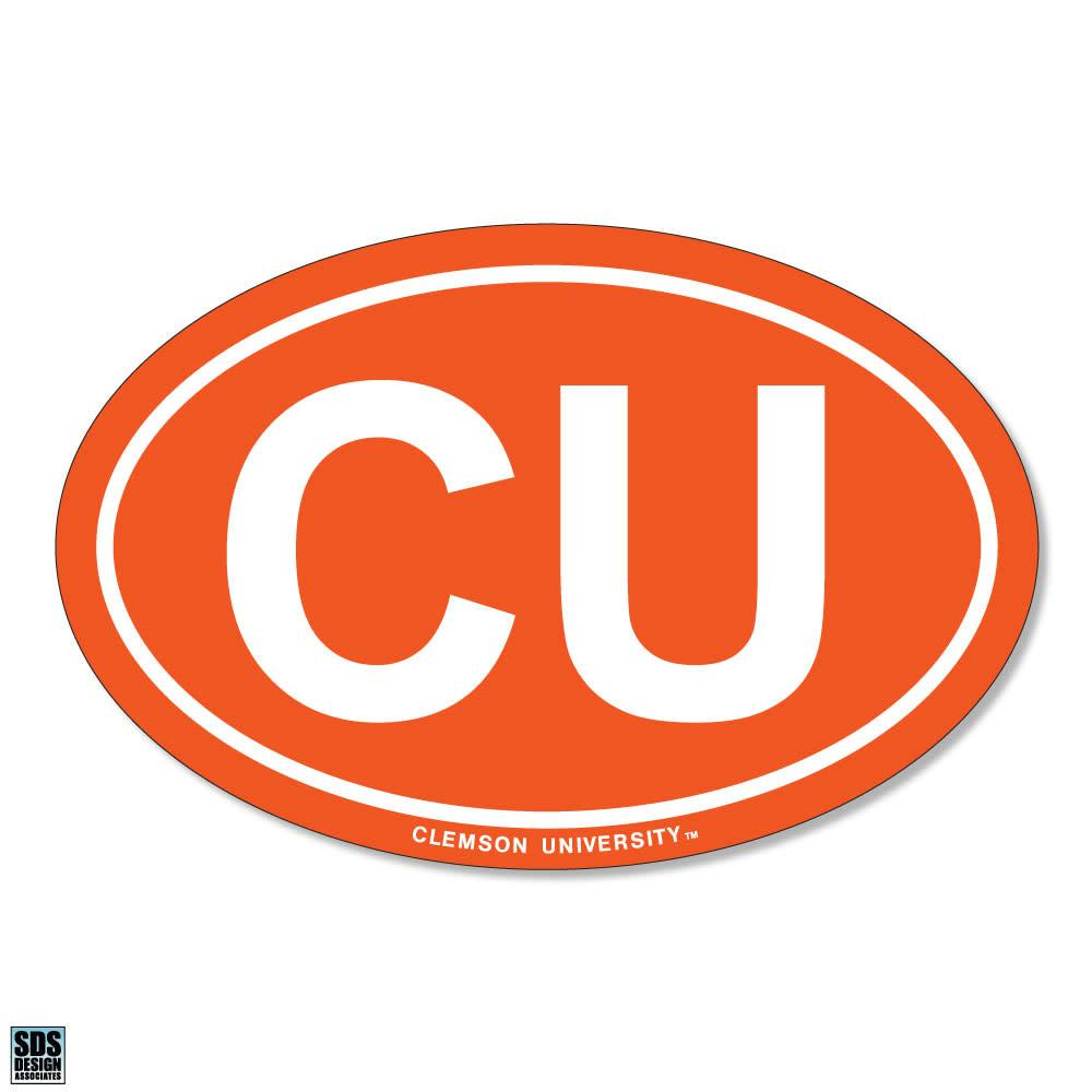"SDS Design Clemson Tigers ""CU"" Oval Decal - Mr. Knickerbocker"