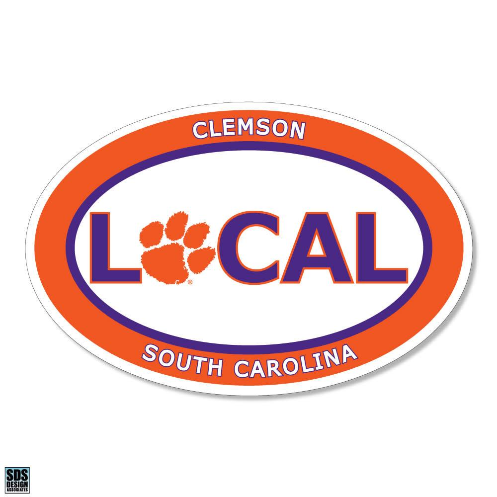 SDS Design Clemson Tigers Local Window Decal - Mr. Knickerbocker