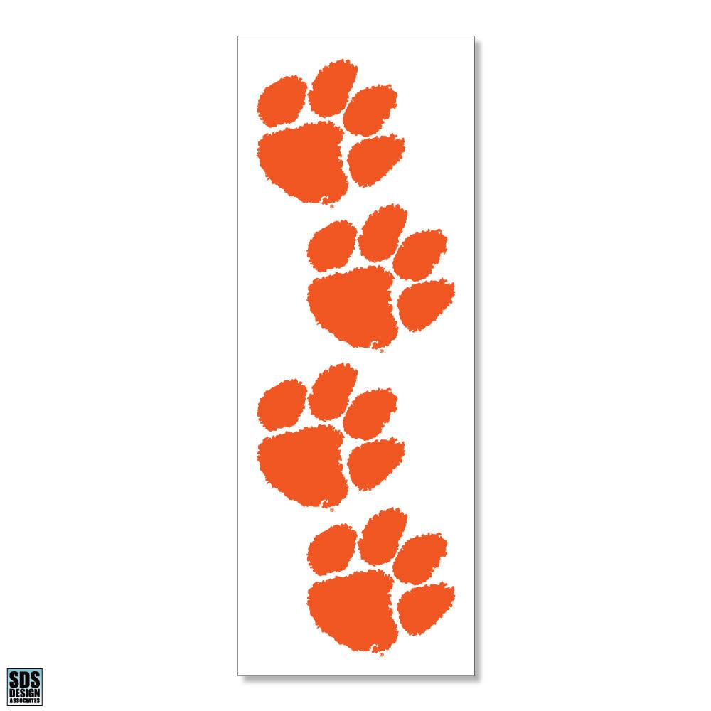SDS Design Clemson Tigers Paw Decals - 4pk - Mr. Knickerbocker