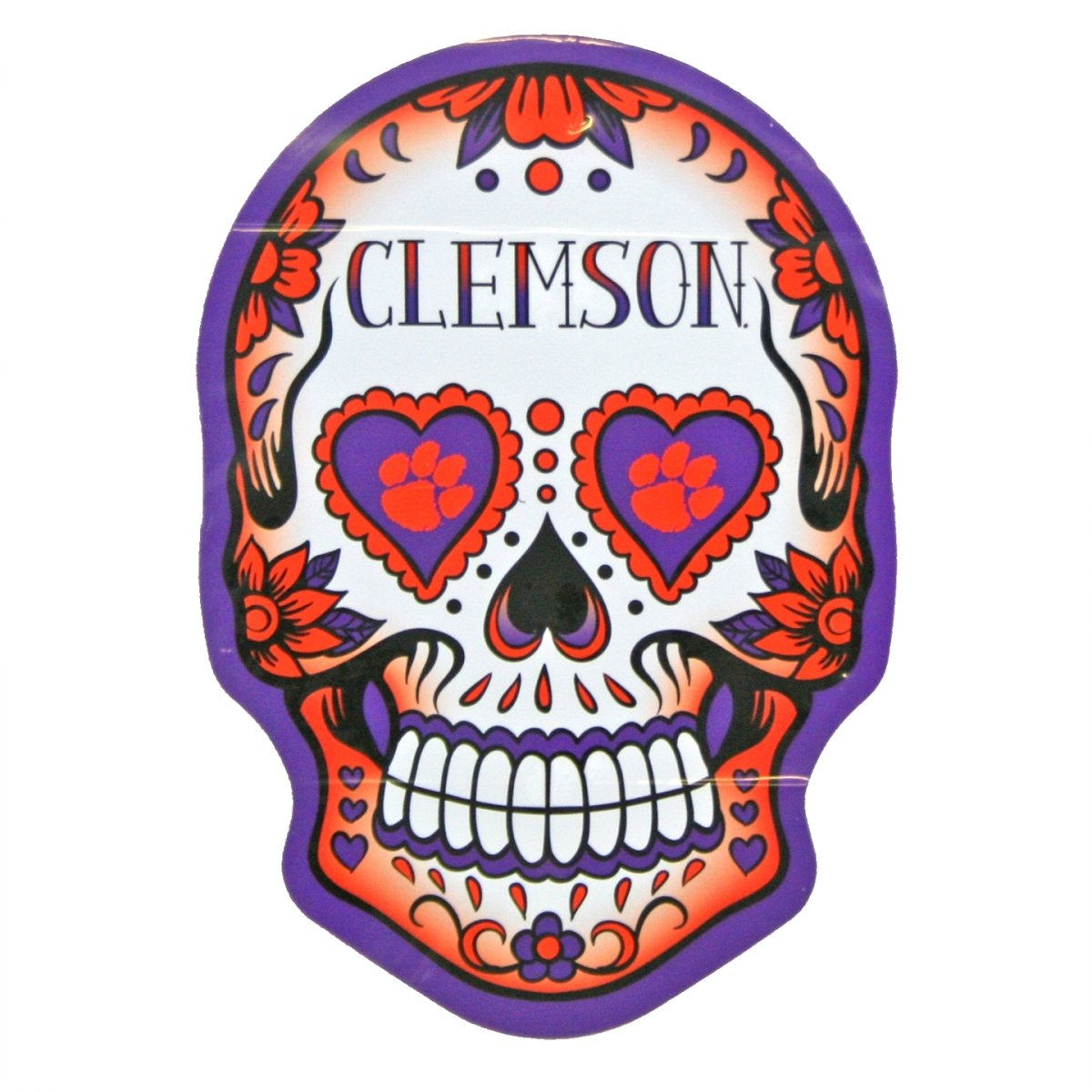 SDS Design Clemson Tigers Sugar Skull Decal - Mr. Knickerbocker