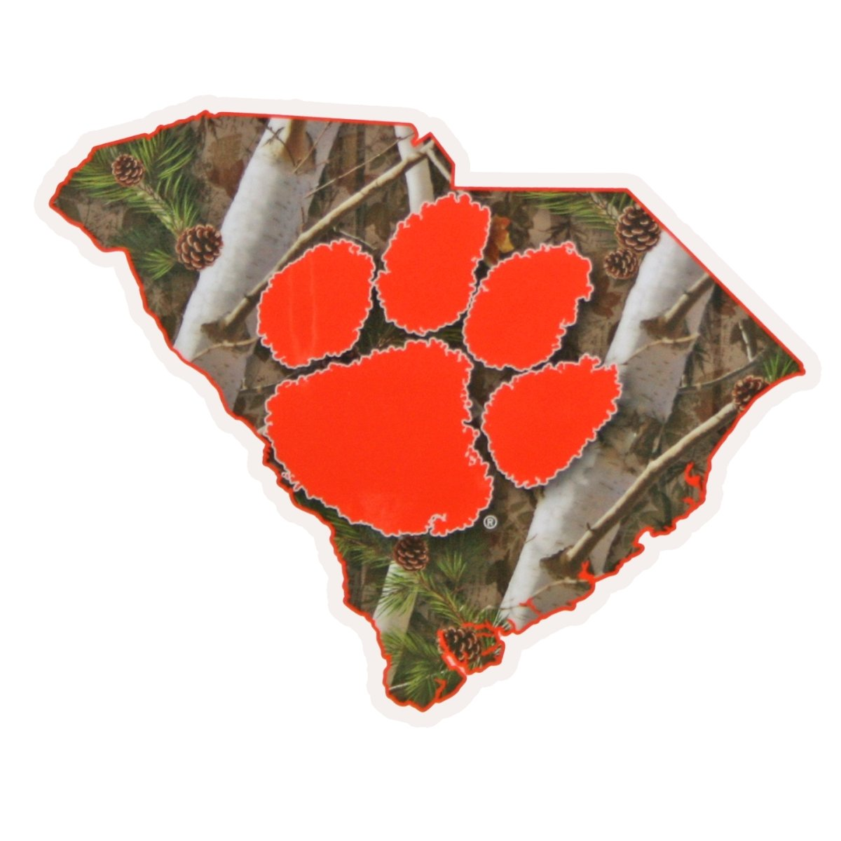 SDS Design Clemson True Camo State Decal - Mr. Knickerbocker