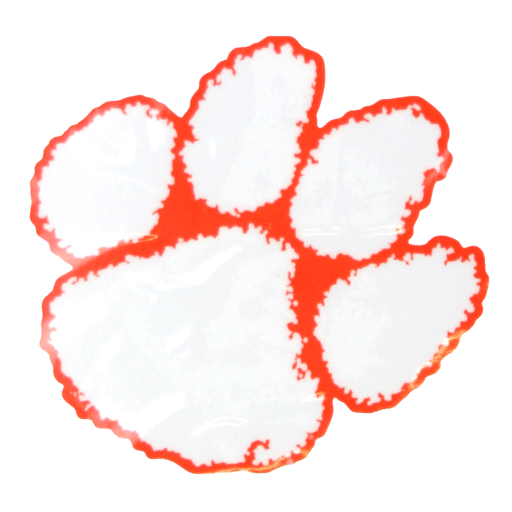 SDS Designs Clemson Tigers Paw Print Decal - Mr. Knickerbocker