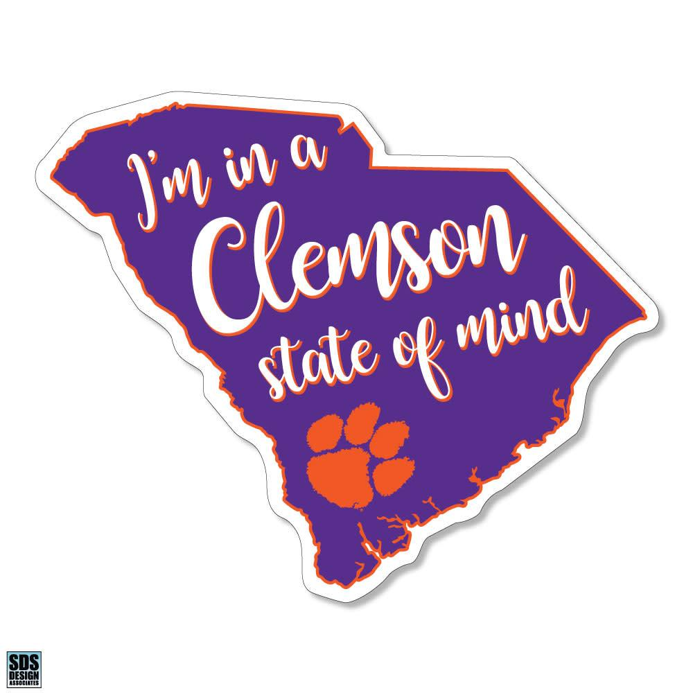 "SDS ""I'm in a Clemson State of Mind"" Decal - Mr. Knickerbocker"