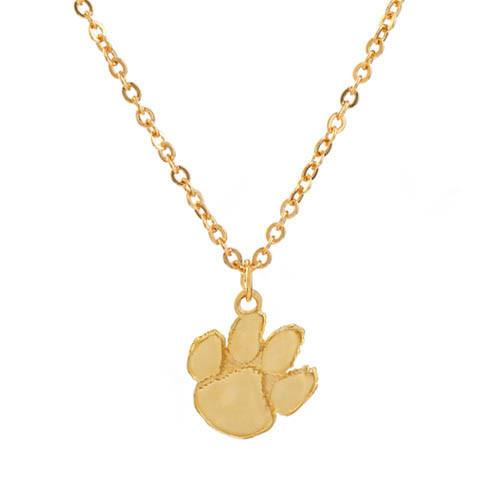 Shawn Paul Jewelry Clemson Tigers Paw Print Necklace - Mr. Knickerbocker