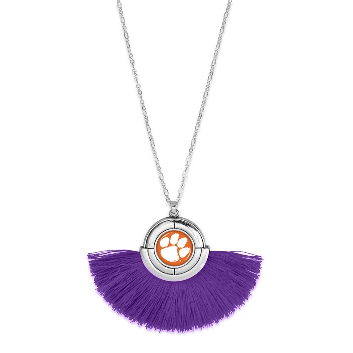 Silver Necklace Half CIrcle Tassel (no Strings Attached) - Mr. Knickerbocker