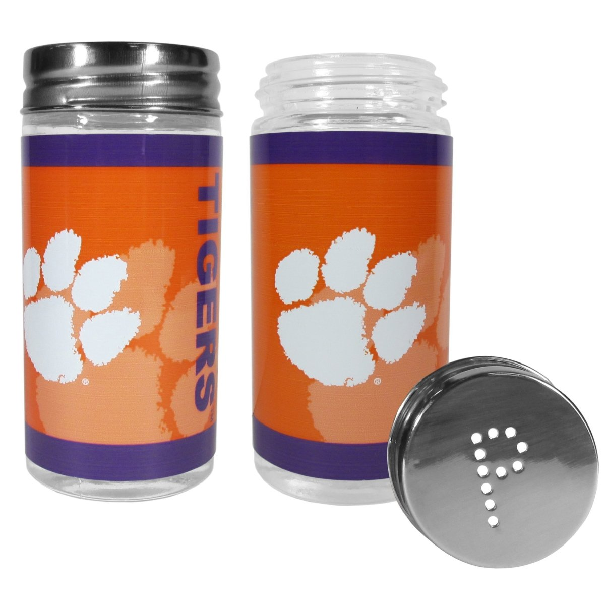 Siskiyou Clemson Tigers Glass Salt and Pepper Shakers - Mr. Knickerbocker