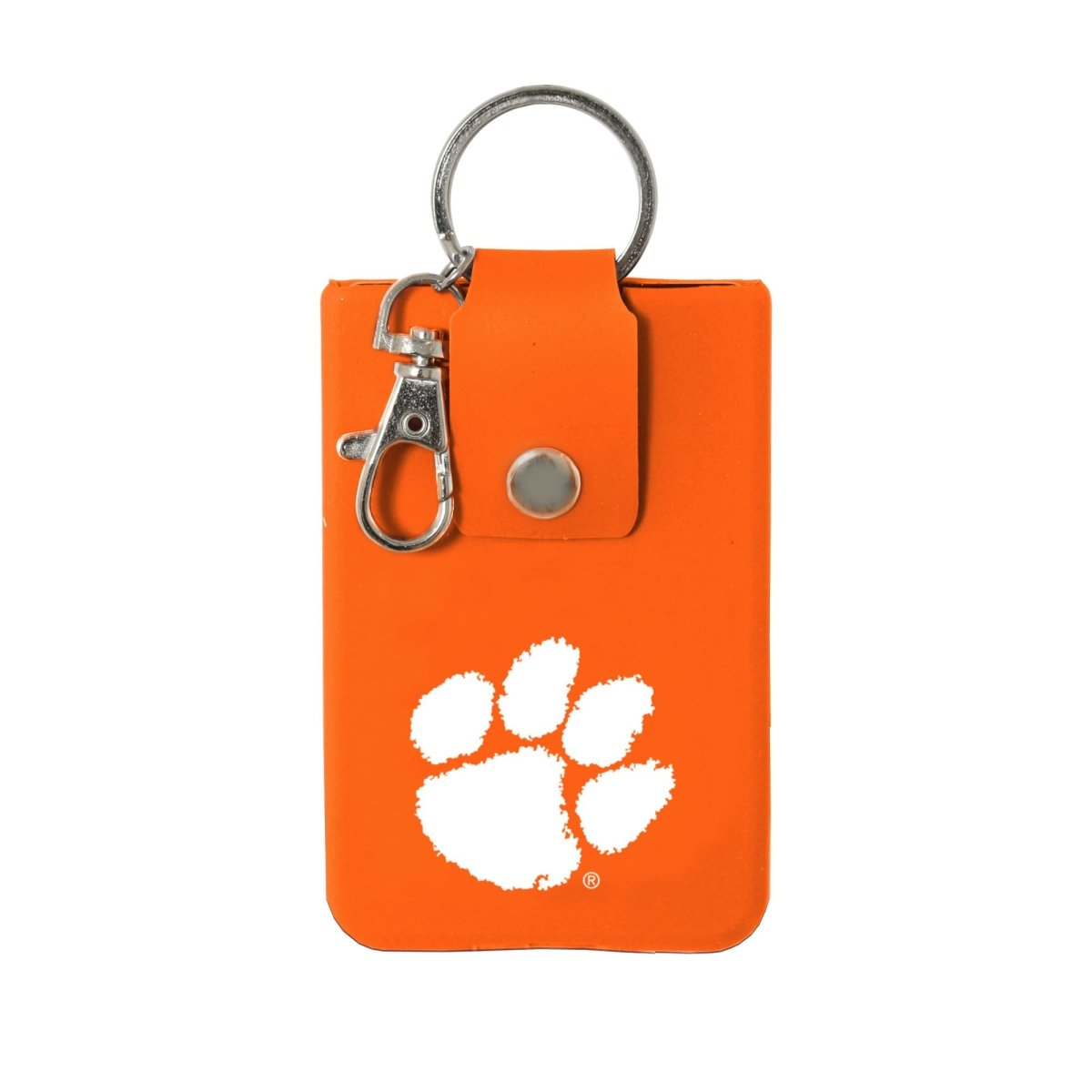 Spirit Products Clemson Paw Print Silicone Id Case Keyring - Mr. Knickerbocker