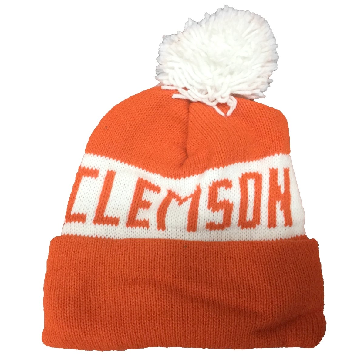 Stanley Knitting Clemson Tigers Knit Beanie With Cuff and Pom - Mr. Knickerbocker