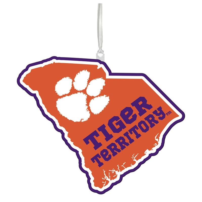 State of South Carolina Ornament Tiger Territory & Paw - Mr. Knickerbocker