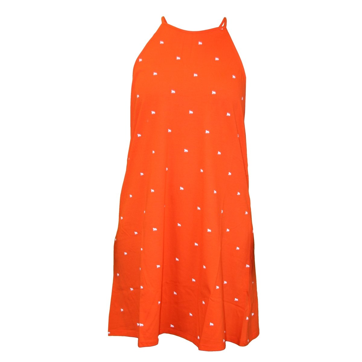 Stewart Simmons Tiny Tigers Print Swing Dress - Orange - Mr. Knickerbocker