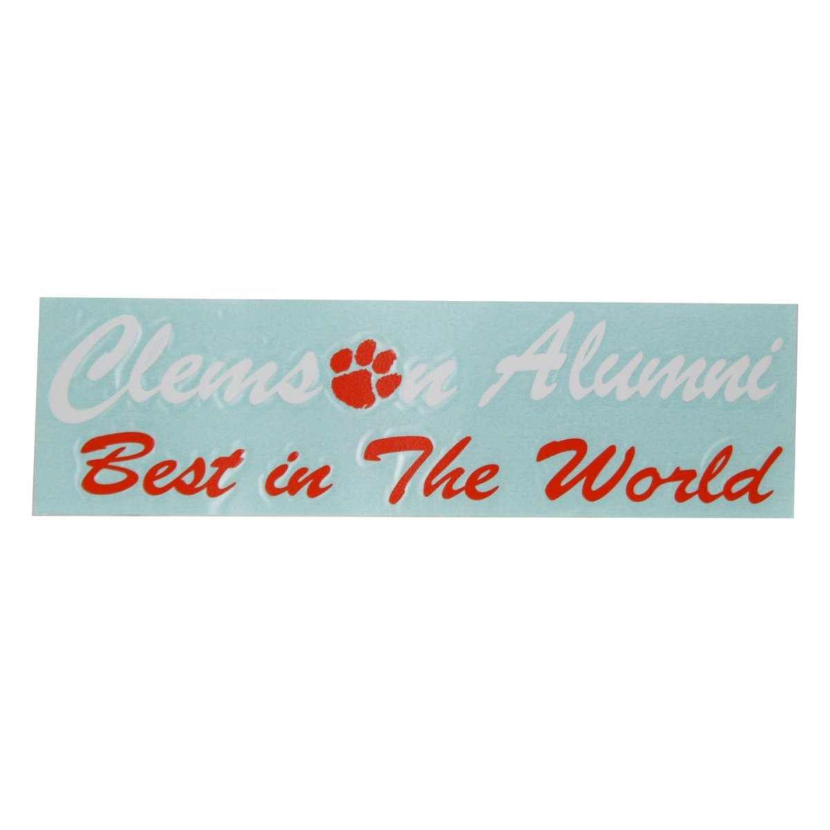 "Stockdale Clemson ""best Alumni in the World"" Decal - Mr. Knickerbocker"