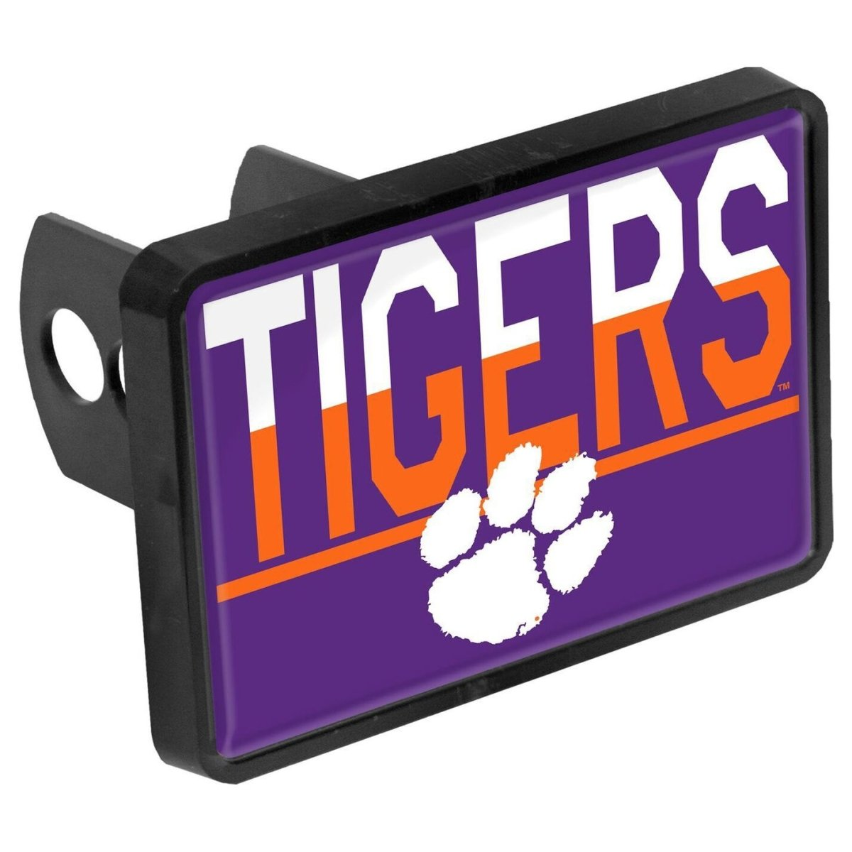 Stockdale Clemson Tigers Duo Tone Plastic Hitch Cover - Mr. Knickerbocker