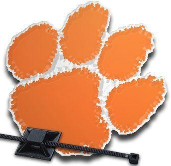 Stockdale Clemson Tigers Paw Print Grill Badge - Mr. Knickerbocker