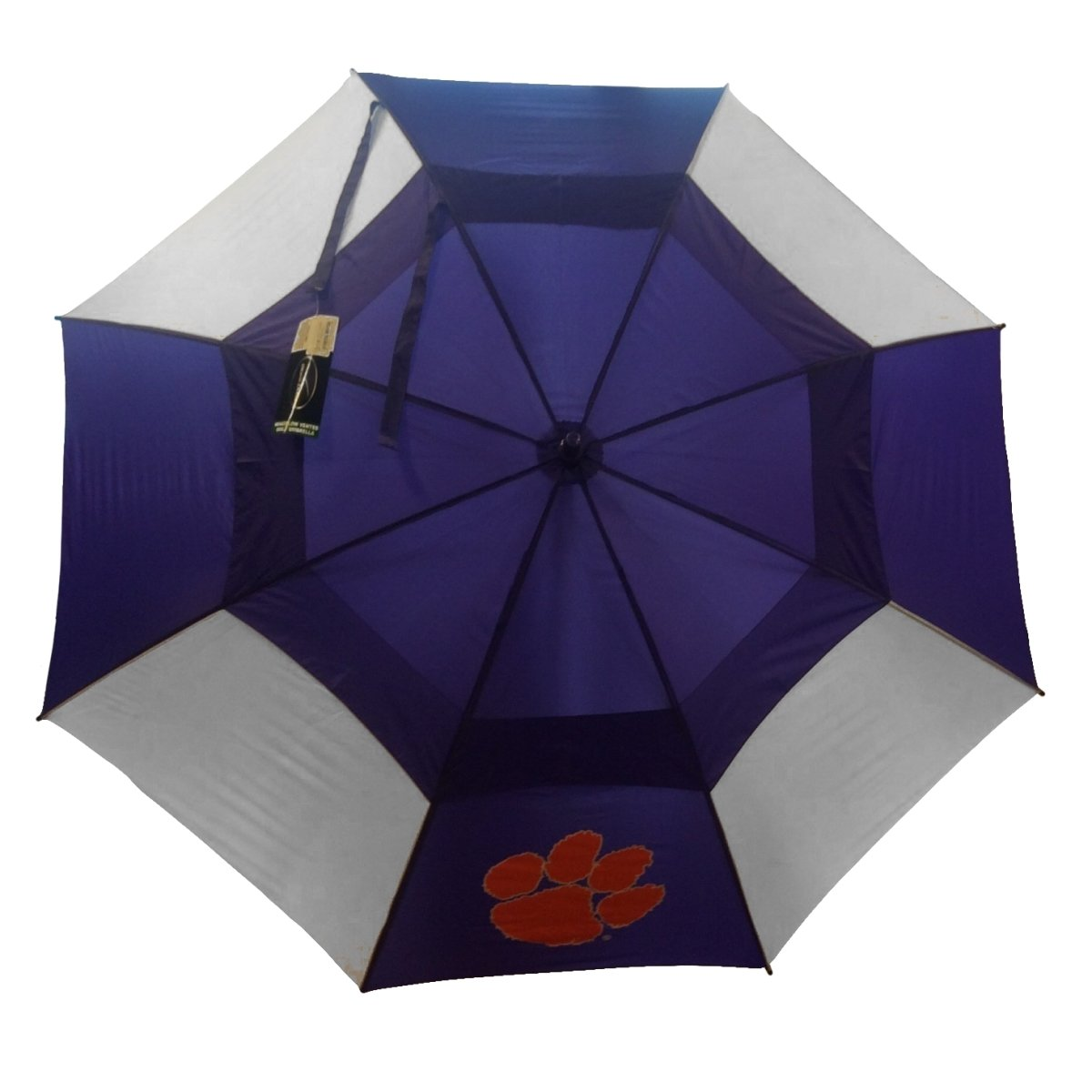 "Storm Duds Clemson Tigers 62"" Windflow Vented Umbrella - Mr. Knickerbocker"