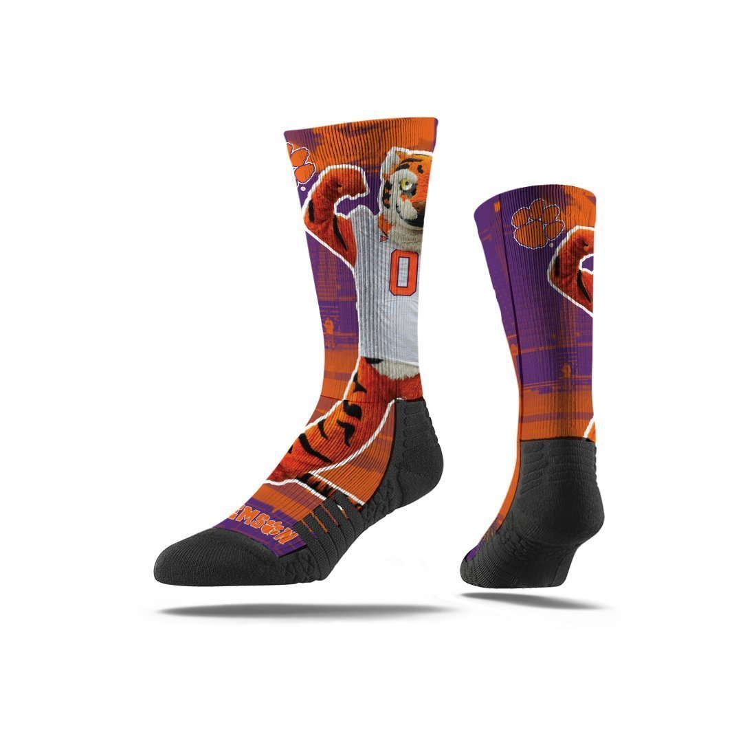 Strideline Clemson Mascot Flex Crew Socks - Mr. Knickerbocker
