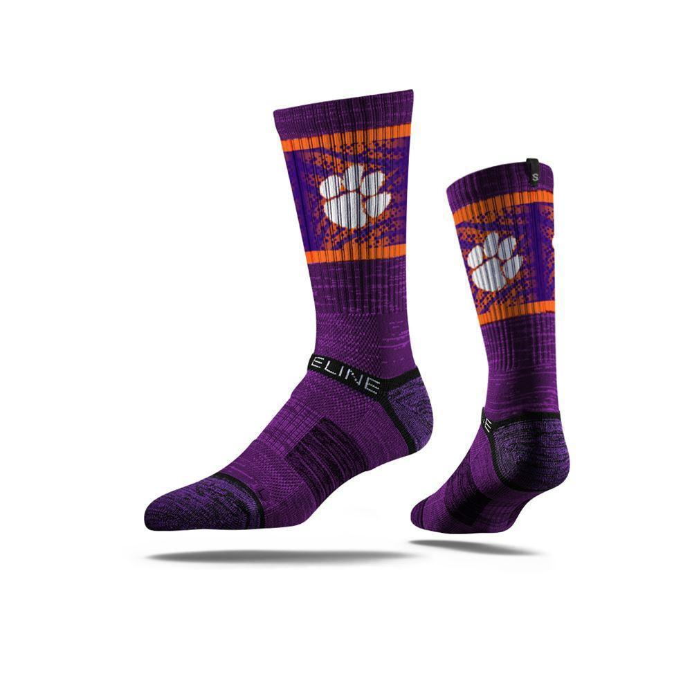 Strideline Clemson Tigers Regalia Crew Socks - Mr. Knickerbocker