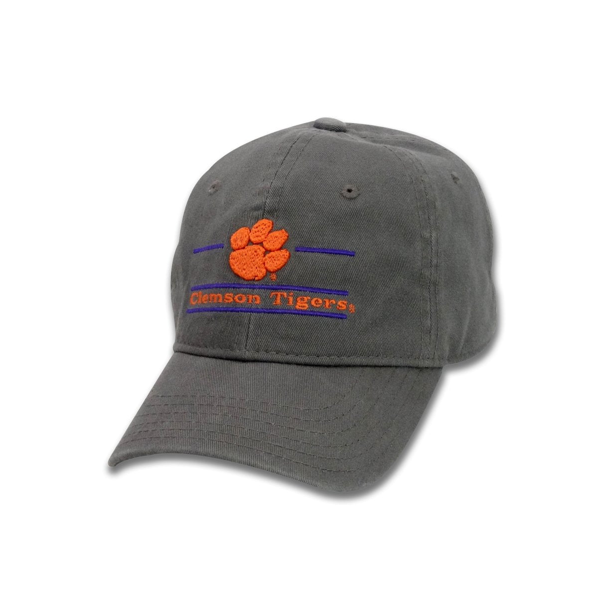 The Game Clemson Tigers Split Bar Adjustable Youth Hat - 3D Paw - Mr. Knickerbocker