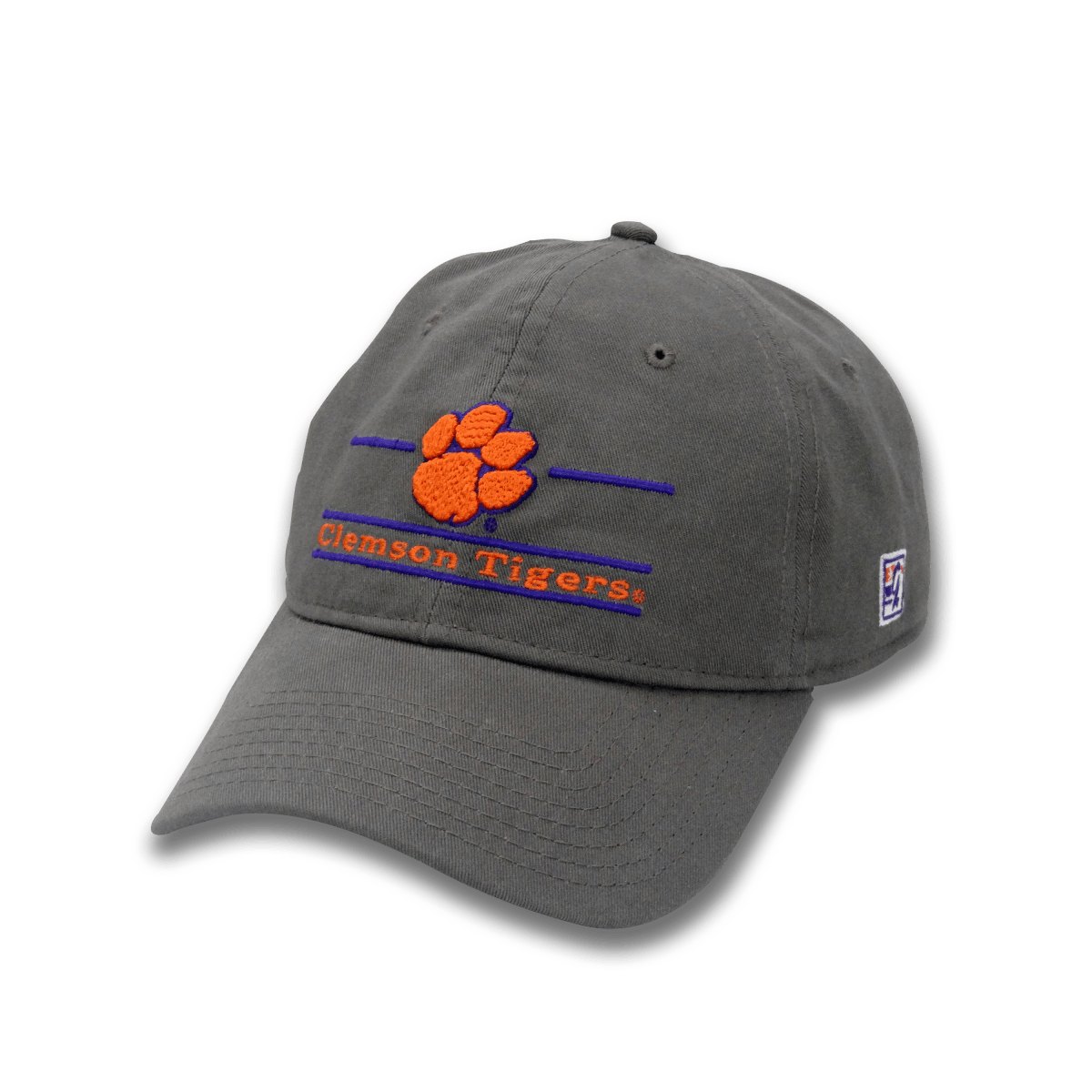 The Game Clemson Tigers Split Bar Fitted Dad Hat - Mr. Knickerbocker