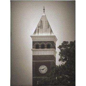 Tillman Hall Clock Postcard Black and White - Mr. Knickerbocker