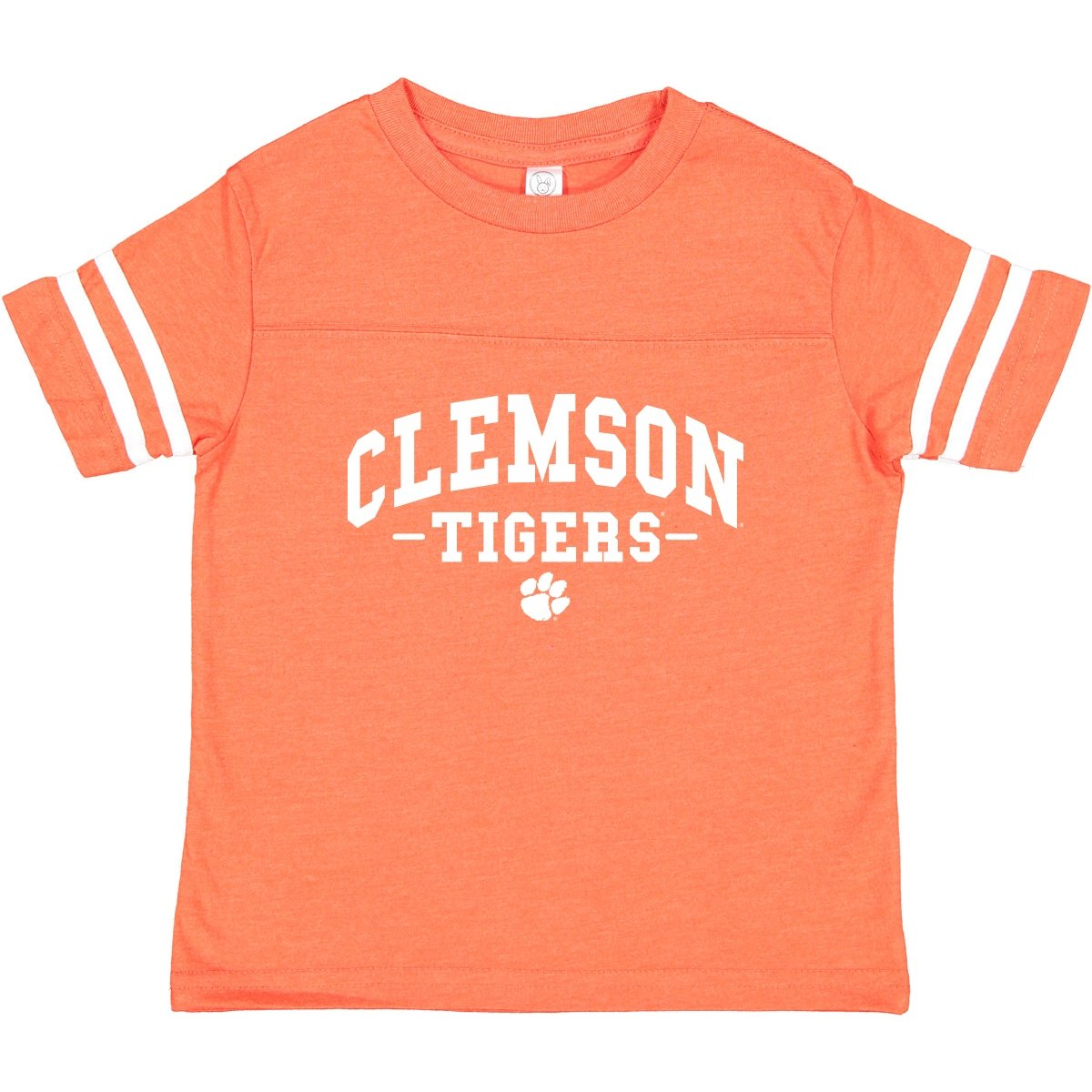 Toddler Tee Football With Clemson Tigers Stacked - Mr. Knickerbocker