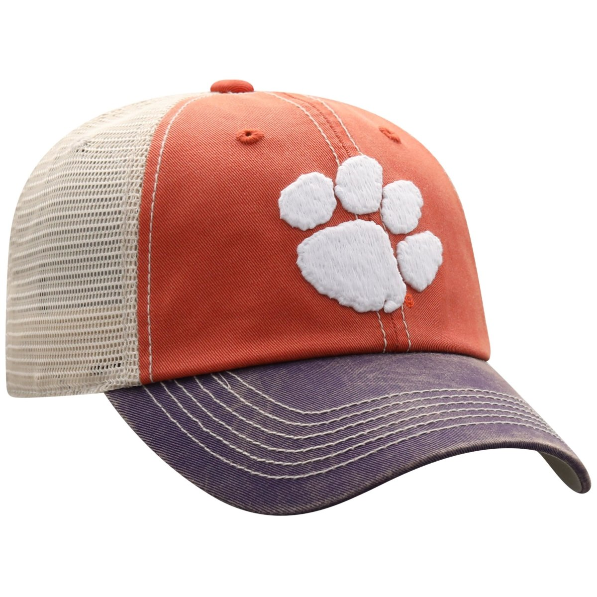 "Top of the World Clemson ""Offroad"" 3 Tone Trucker Youth Hat - Mr. Knickerbocker"
