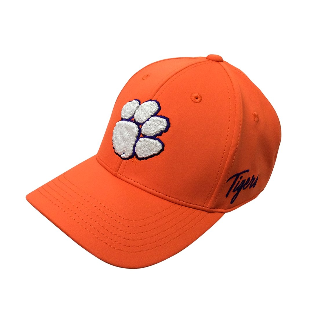 Top of the World Clemson Phenom Orange Fitted With White Paw and Purple Script - Mr. Knickerbocker