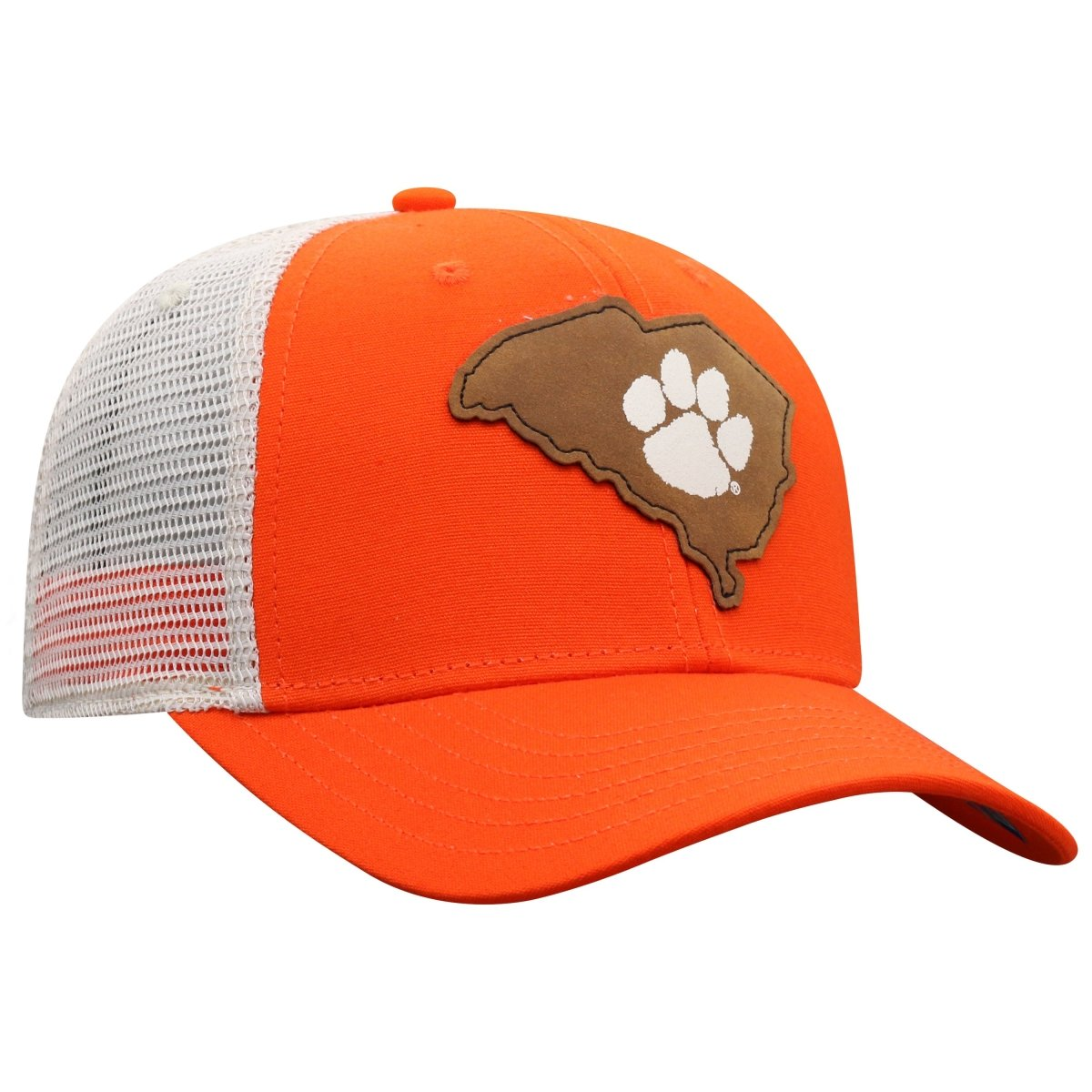 Top of the World Clemson Precise Trucker Hat With Leather State Patch - Mr. Knickerbocker