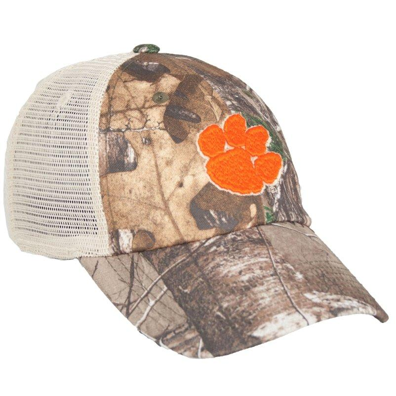 Top of the World Clemson Prey Woodland Camo Trucker Hat - Mr. Knickerbocker