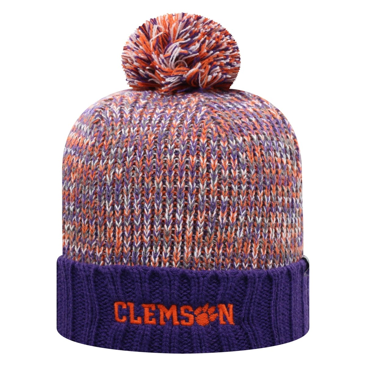 Top of the World Clemson Soar Multi-color Beanie With Pom Pom - Mr. Knickerbocker