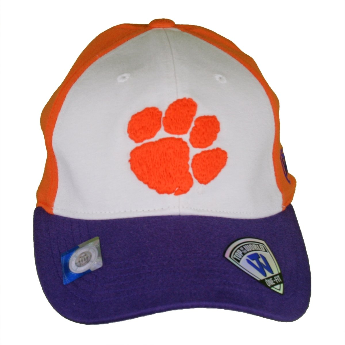 Top of the World Clemson Tigers 3-color Block Fitted Cap - Mr. Knickerbocker