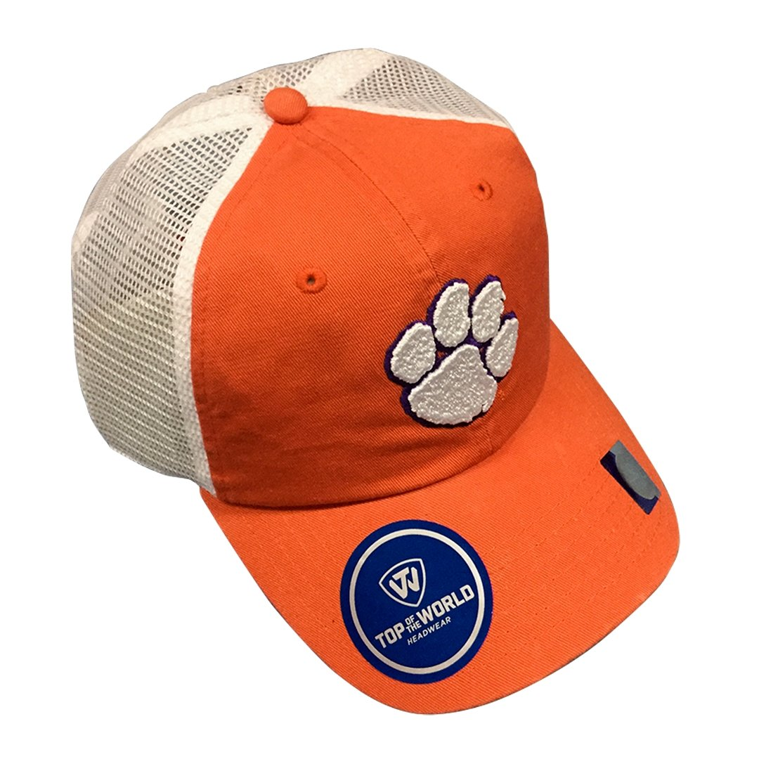 Top of the World Clemson Tigers Backyard Adjustable Trucker Hat - Mr. Knickerbocker